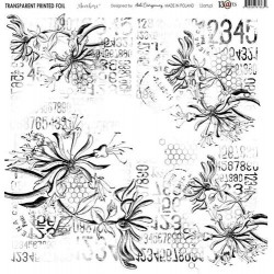 Transparent foil Aqua Flora Numbers 30x30