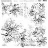 Transparent foil Aqua Flora Numbers 30x30