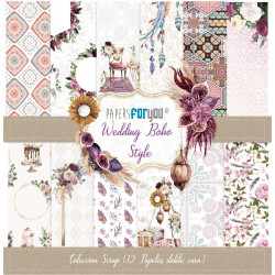 Colección Scrap 30X30 Papers For You Boho Wedding Style