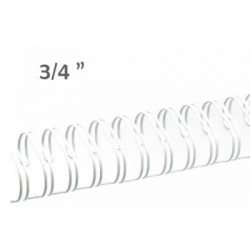 Espiral Wire 23 anillas blanco 3/4 ""