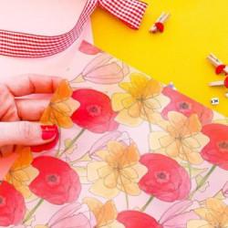 Transparent foil Carte Postale,  30x30x0,25 cm