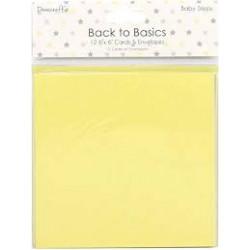 Tarjetas y Sobres Back To Basics Baby Steps (15x15)