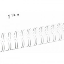 Espiral Wire 23 anillas blanco 1, 1/4 ""