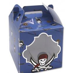 """Caja Cartón para Caramelos Pequeña """"Piratas"""""""