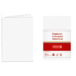 Paquete de 10 Cartulinas Plegadas A-6 160 grs. Blancas