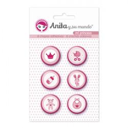 "Chapas Adhesiva Anita y su Mundo ""Mi Princesa"""