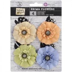 Set 20 Mini-Flores Papel