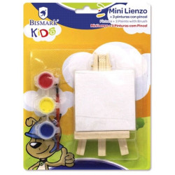 Mini Lienzo Kids + 3 Pinturas con Pincel