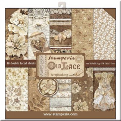 kit de Papeles Scrap Old Lace Stamperia 30 x30