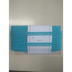 Puntilla Estrecha detalle en terciopelo Azul Claro