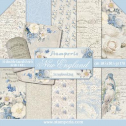 kit de Papeles Scrap Blue Stars Stamperia 30 x30