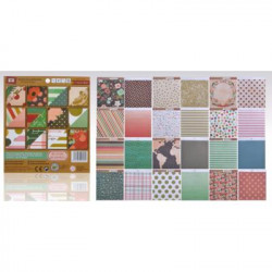"Block Papel Scrapbooking 15,2 X15,20 ""Retro"""