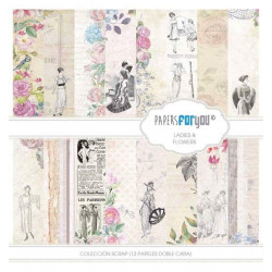 Colección Scrap 30X30 Papers For You  lADIES & Flowers