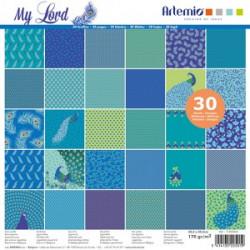 Papel Scrap Artemio Blue Drems 30,5x30,5cm 60 ud