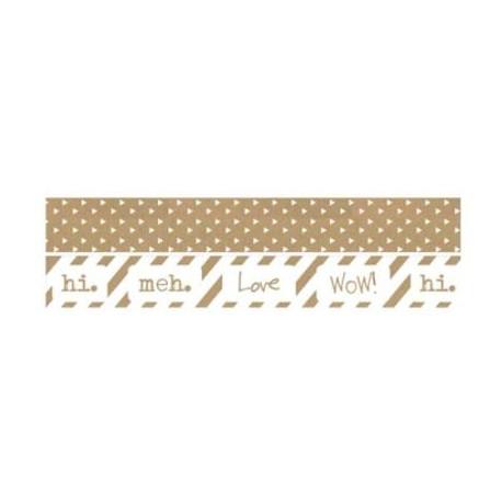 Pack de 2 rollos de Cinta Adhesiva para Scrapbooking