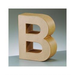 Letra cartón B Alto 16,5 x fondo 5,5 cm