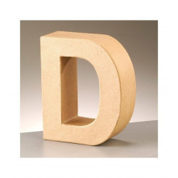 Letra cartón D Alto 16,5 x fondo 5,5 cm