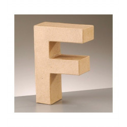 Letra cartón F Alto 16,5 x fondo 5,5 cm