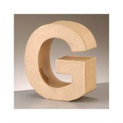 Letra cartón G Alto 16,5 x fondo 5,5 cm