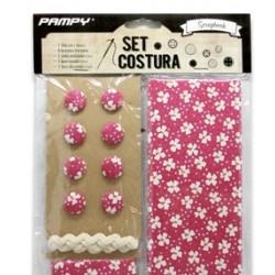Set de Tela y accesorios para scrapbooking Rojo