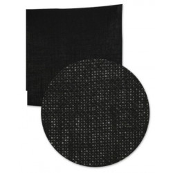 Hoja de tela de saco ( arpillera) 30x30 cm Negro