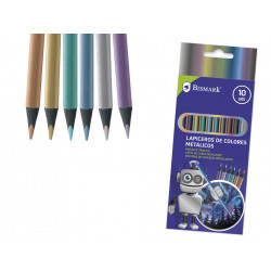 Pack 10 uds, lapices colores metálicos
