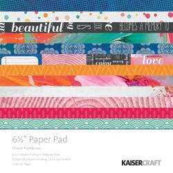 "Pack  papeles Kaisercraft 6.5""X 6.5"" chase rainbows"