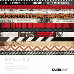 """Pack  papeles Kaisercraft 6.5""""X 6.5""""on stage"""