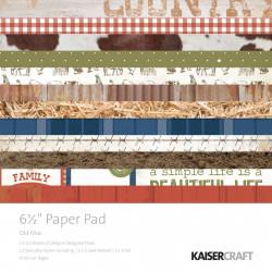 "Pack  papeles Kaisercraft 6.5""X 6.5"" old mac"