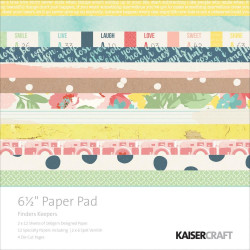 """Pack  papeles Kaisercraft 6.5""""X 6.5"""" finders keepers"""