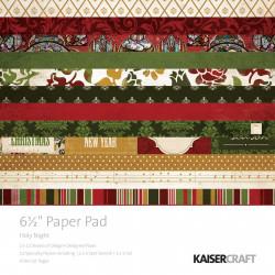 "Pack  papeles Kaisercraft 6.5""X 6.5"" holy night"