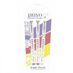 Rotuladores Brush Script - Bright Florals