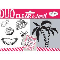 Aladine Duo Clear Stamps & Stencil Jungla