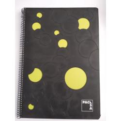 Cuaderno Folio 100 h. Cuadricula 4x4 Tapa Polipropileno Troquelado