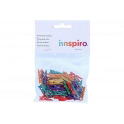 Mini Pinzas colores paquete de 40 uds.