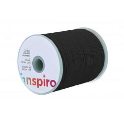 Cordón algodón encerado fino negro 1,00 mm 100 m.