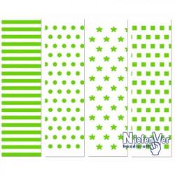 Papel Scrapbooking Modelo 3 Geométrico Verde Bolsa 8 hojas