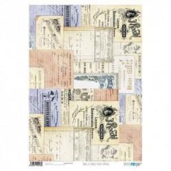 Papel de Arroz 29,7 x 42 cm Notas Vintage Papers For You