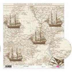 Papel de Arroz  31,8 x 30 cm Maritim Papers For You