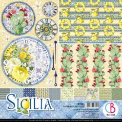 Set 8 papeles 30x30 Ciao Bella Sicilia Basicos