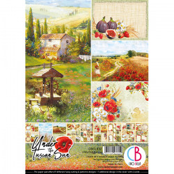 Set 8 papeles 30X30  Ciao Bella Autumn Whispers