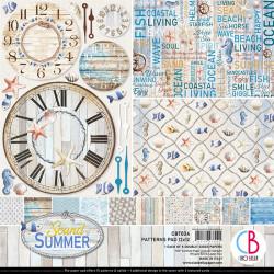 Set 8 papeles 30x30 Ciao Bella Sound of Summer Basicos