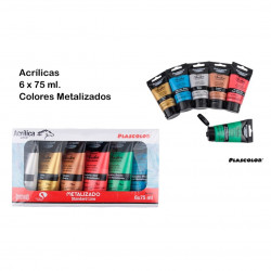 Plascolor Pack de 6 tubos de pintura acrílica