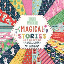 SET DE SCRAPBOOKING MAGICAL STORIES PAPER ADDICTS 10X10CM