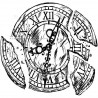 Sello de Caucho AB Studio ID-716 Vintage Clock